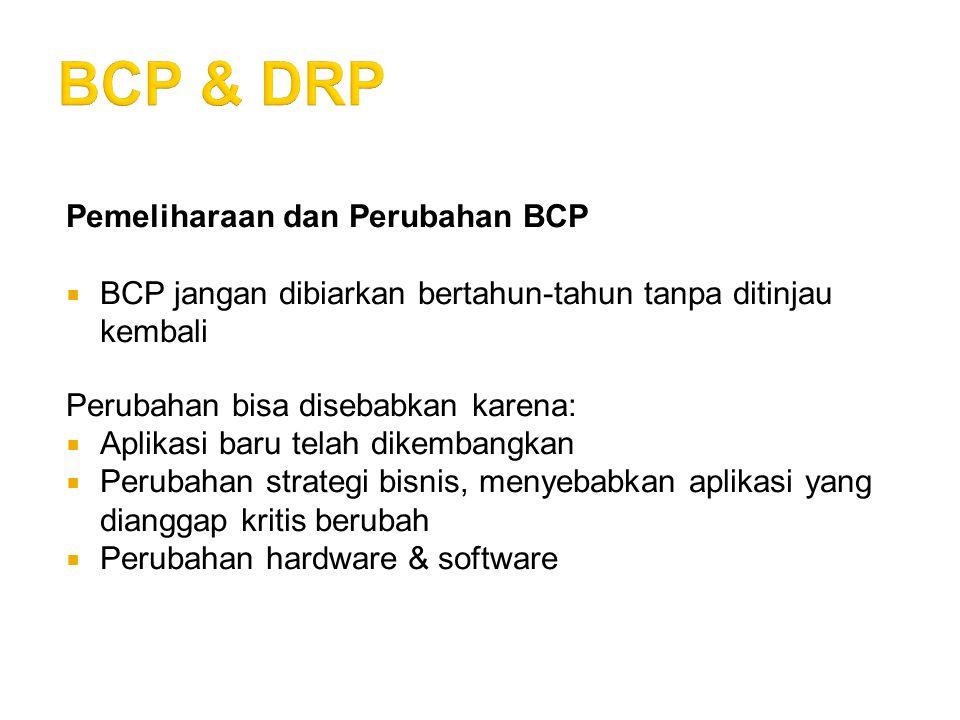 BCP & DRP Pemeliharaan dan Perubahan BCP