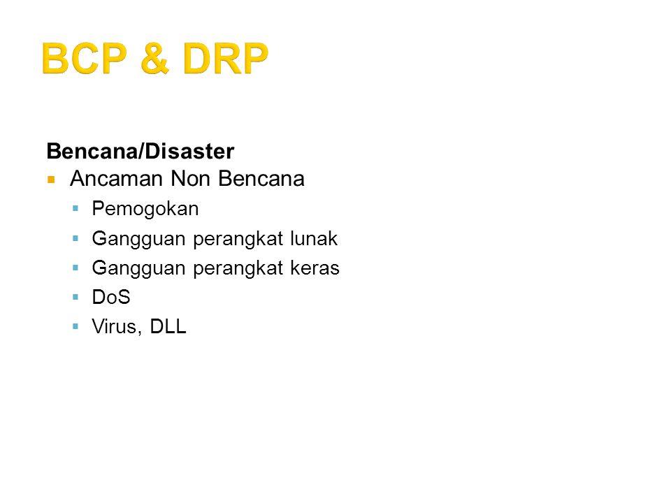 BCP & DRP Bencana/Disaster Ancaman Non Bencana Pemogokan