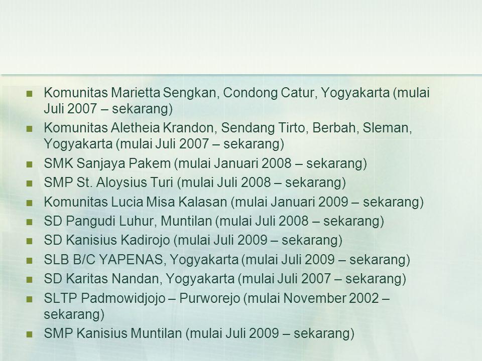 Komunitas Marietta Sengkan, Condong Catur, Yogyakarta (mulai Juli 2007 – sekarang)