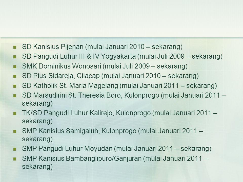 SD Kanisius Pijenan (mulai Januari 2010 – sekarang)