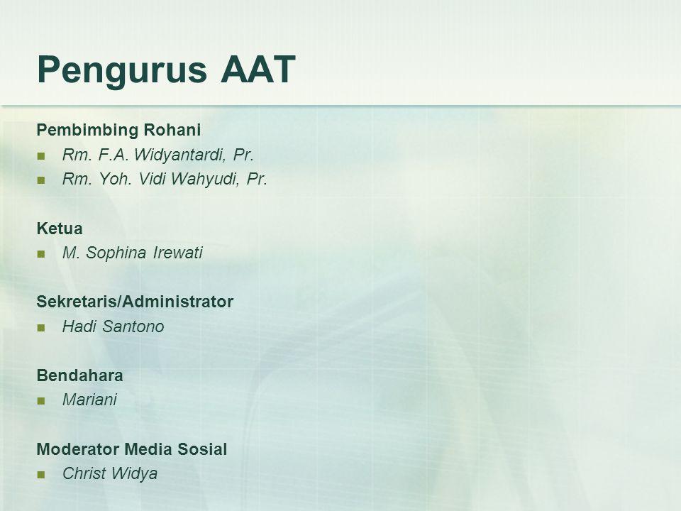 Pengurus AAT Pembimbing Rohani Rm. F.A. Widyantardi, Pr.