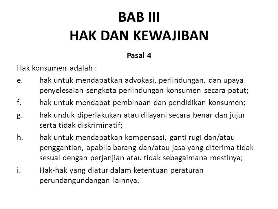 BAB III HAK DAN KEWAJIBAN
