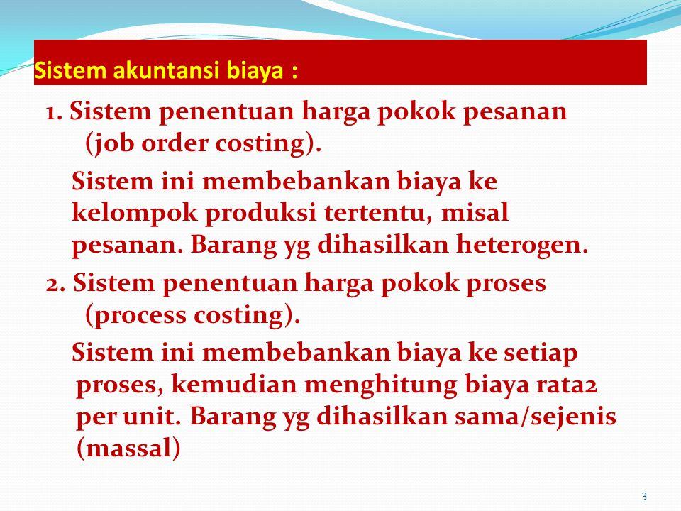 Sistem akuntansi biaya :