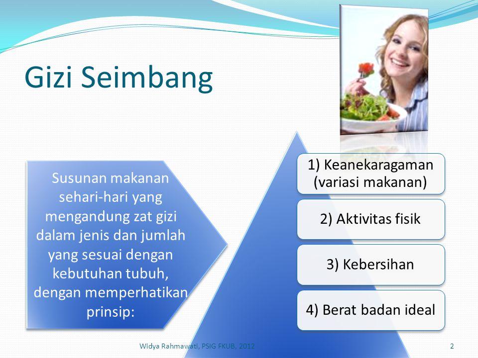 1) Keanekaragaman (variasi makanan)