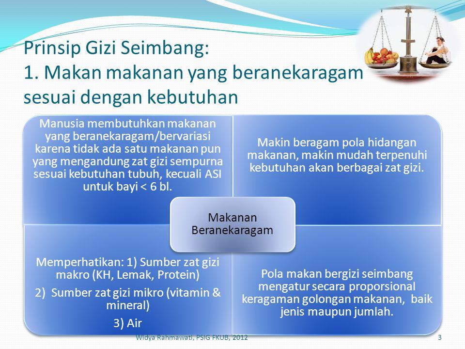 Prinsip Gizi Seimbang: 1