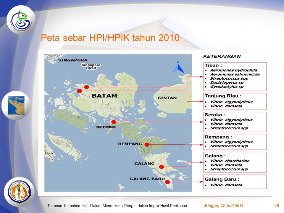 Peta sebar HPI/HPIK tahun 2010