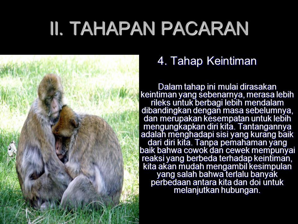II. TAHAPAN PACARAN 4. Tahap Keintiman