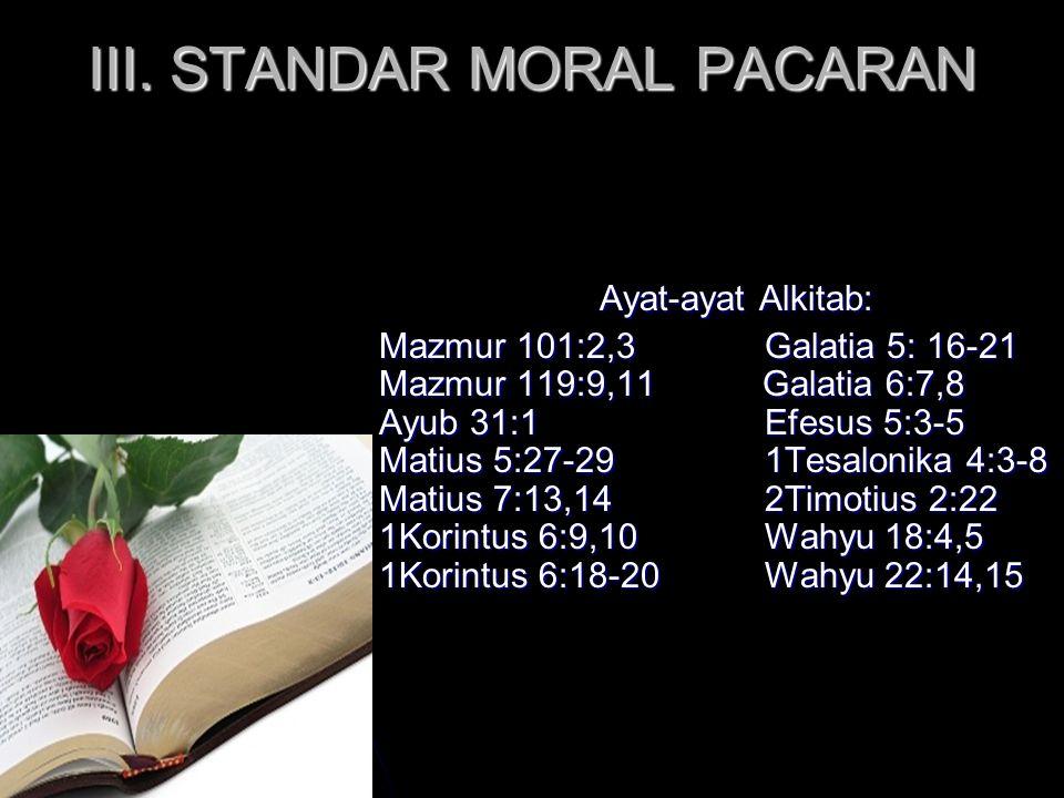 III. STANDAR MORAL PACARAN