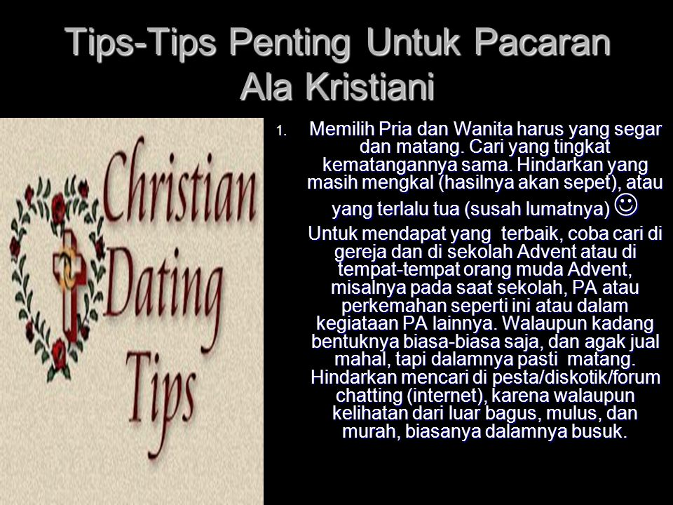 Tips-Tips Penting Untuk Pacaran Ala Kristiani