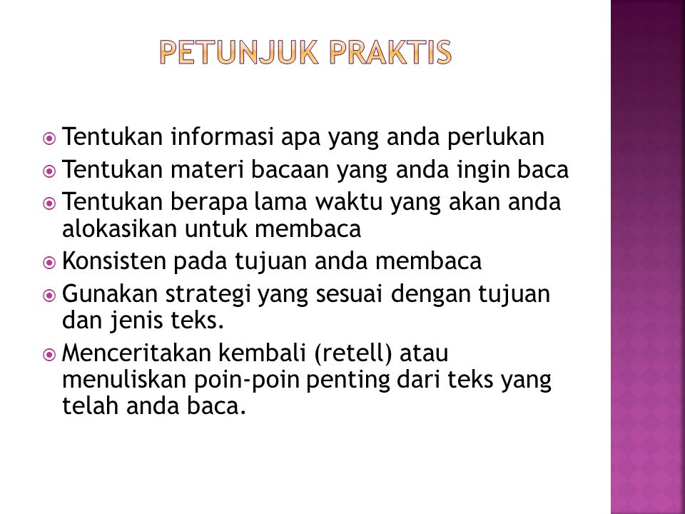 PETUNJUK PRAKTIS Tentukan informasi apa yang anda perlukan