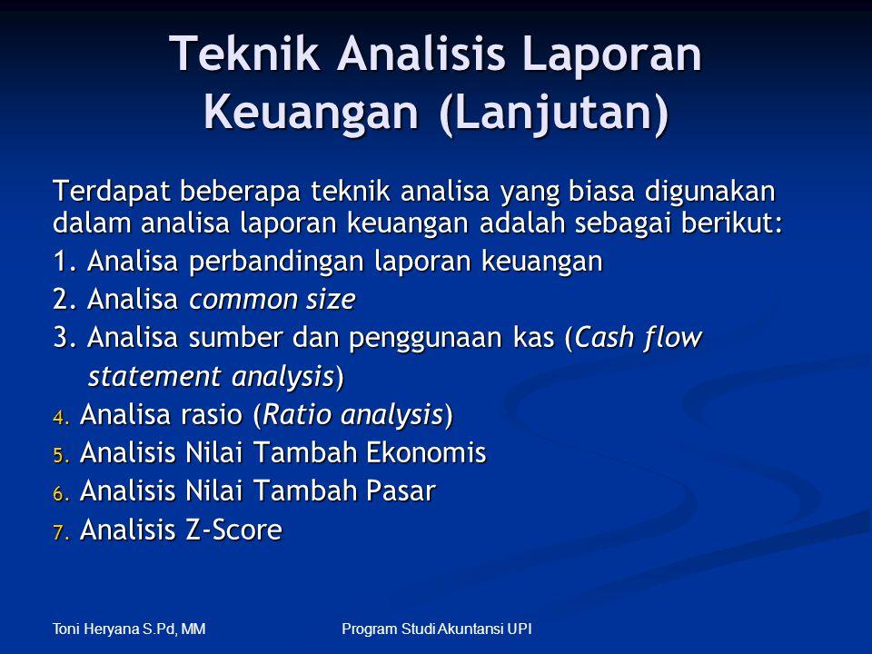 Teknik Analisis Laporan Keuangan (Lanjutan)