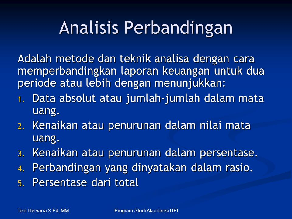Analisis Perbandingan