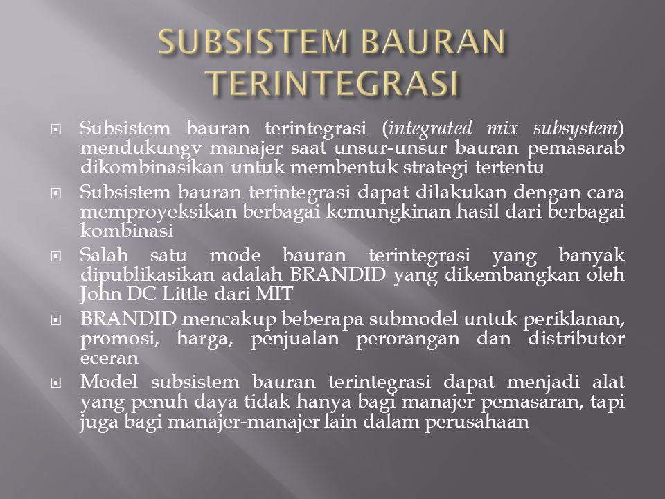 SUBSISTEM BAURAN TERINTEGRASI