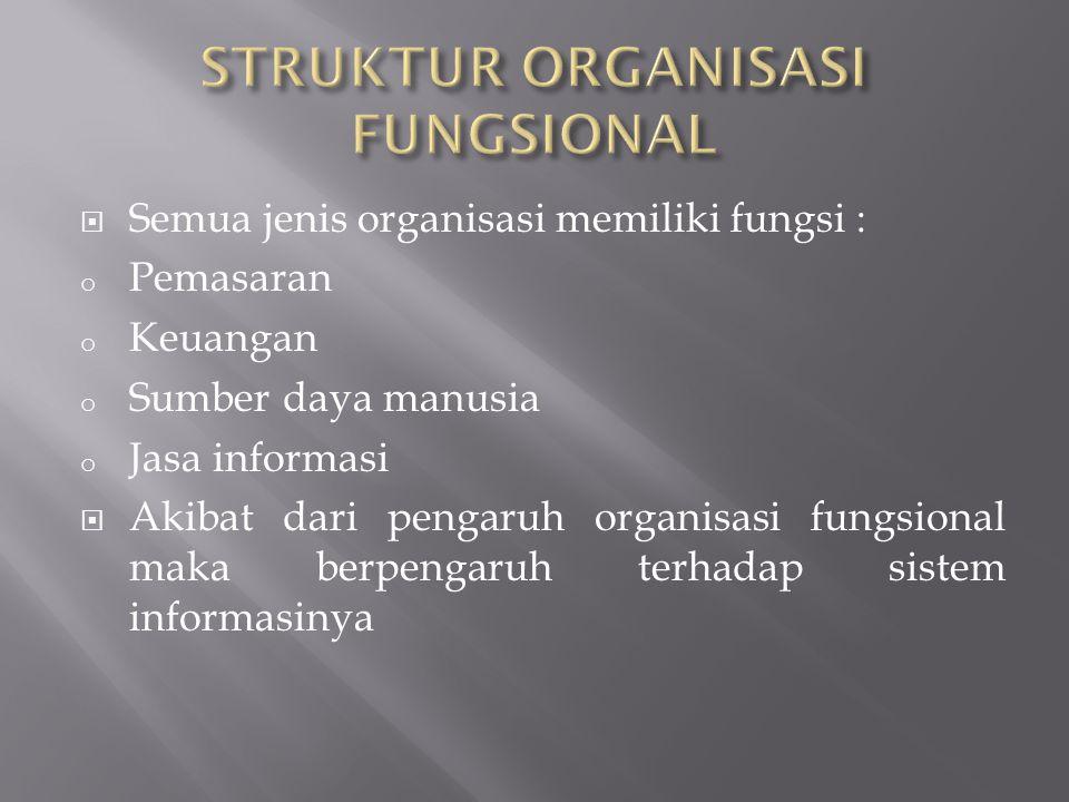 STRUKTUR ORGANISASI FUNGSIONAL
