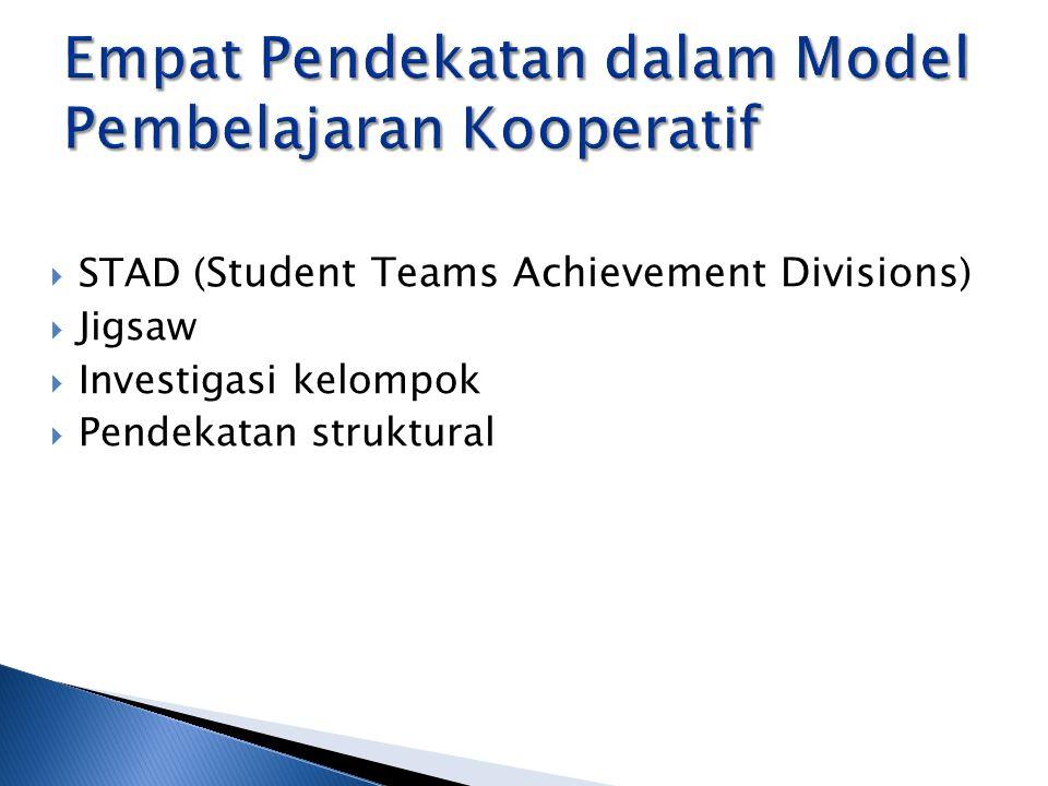 Empat Pendekatan dalam Model Pembelajaran Kooperatif