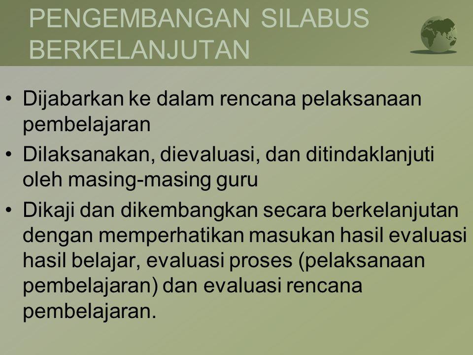 PENGEMBANGAN SILABUS BERKELANJUTAN