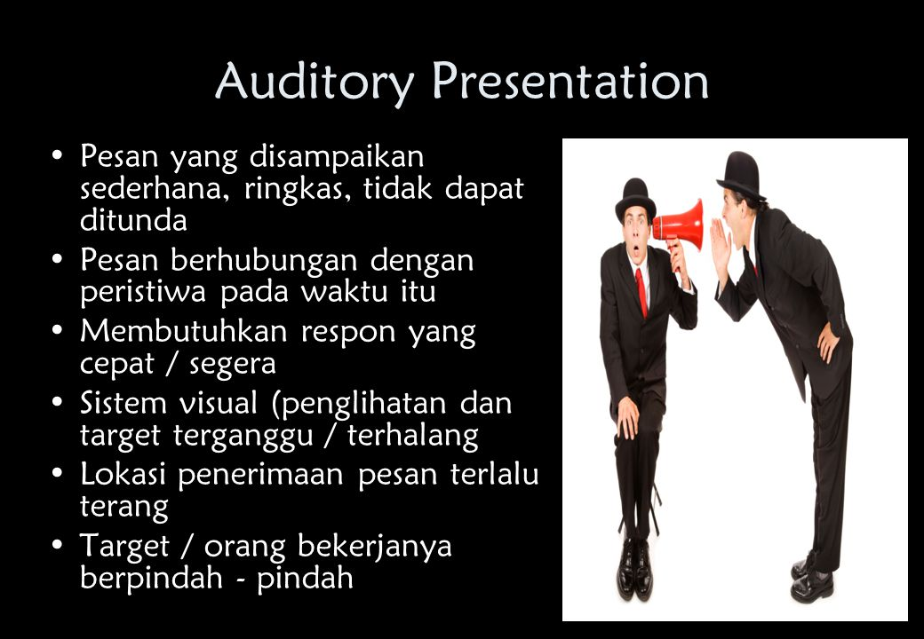 Auditory Presentation