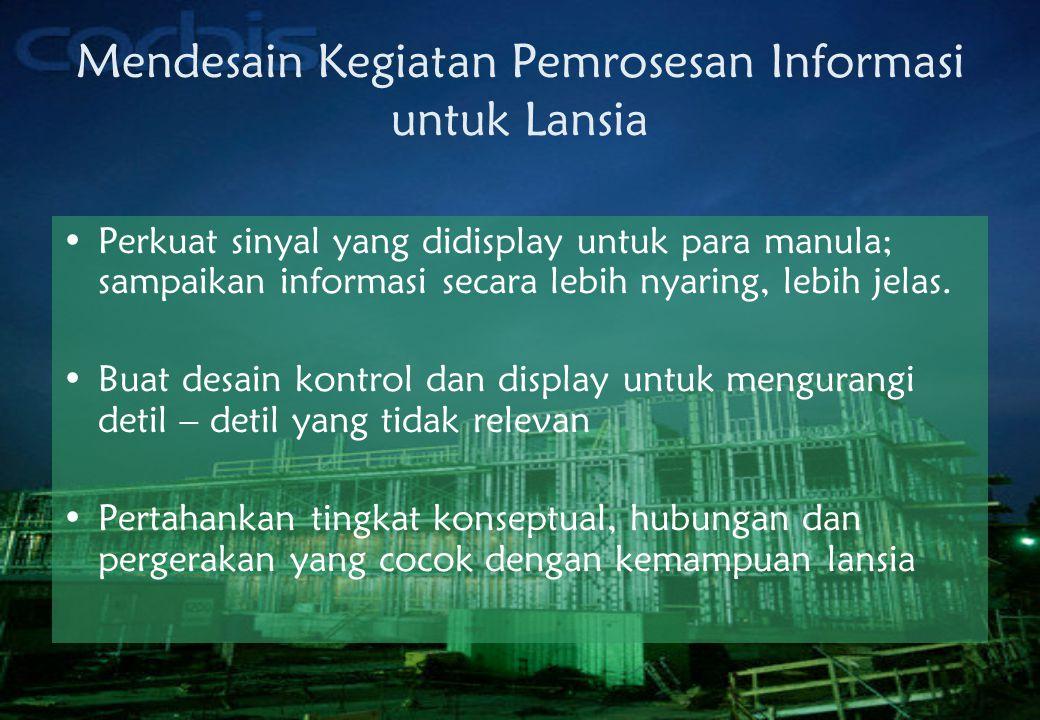 Mendesain Kegiatan Pemrosesan Informasi untuk Lansia