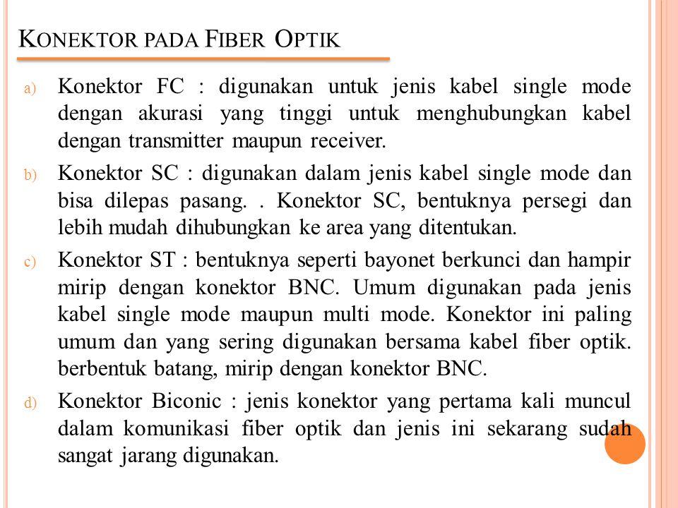 Konektor pada Fiber Optik