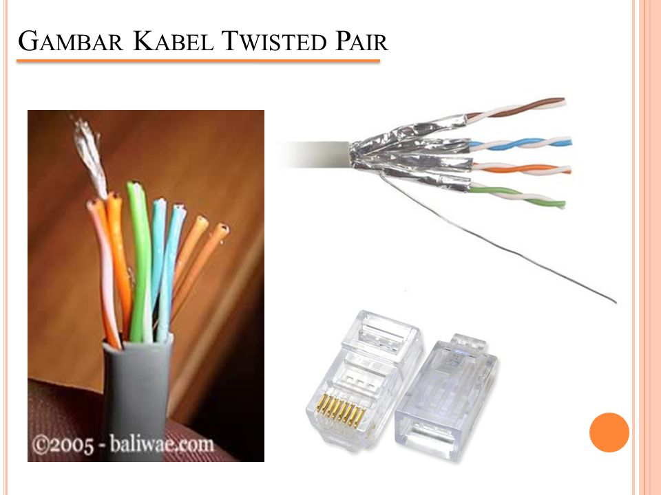 Gambar Kabel Twisted Pair