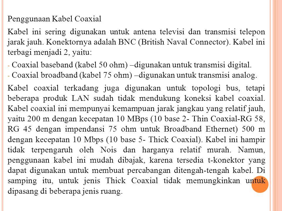 Penggunaan Kabel Coaxial