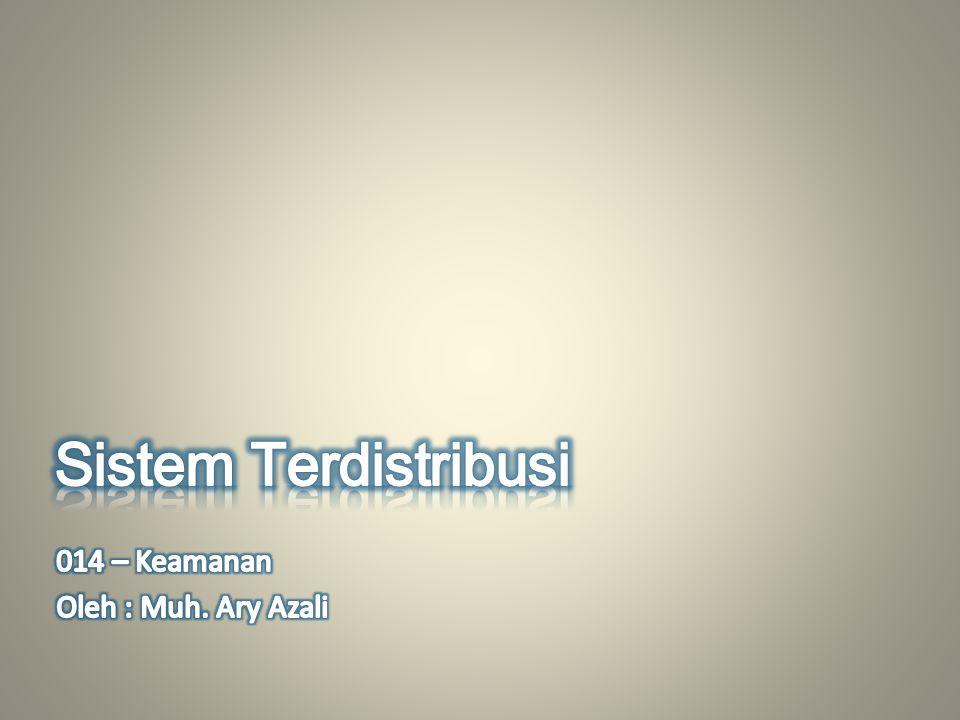 Sistem Terdistribusi 014 – Keamanan Oleh : Muh. Ary Azali