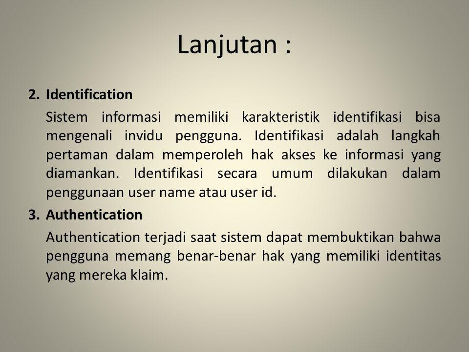 Lanjutan : 2. Identification