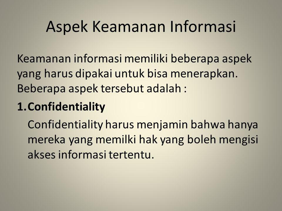 Aspek Keamanan Informasi
