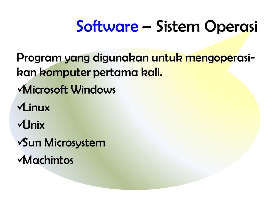 Software – Sistem Operasi