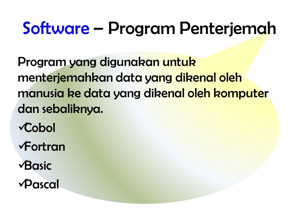 Software – Program Penterjemah