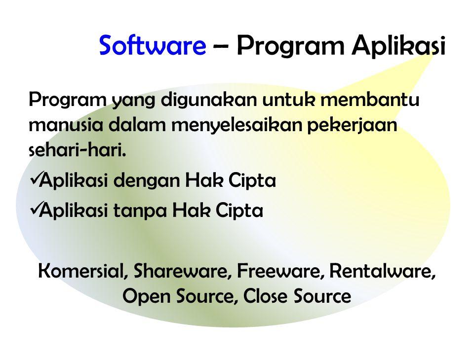 Software – Program Aplikasi