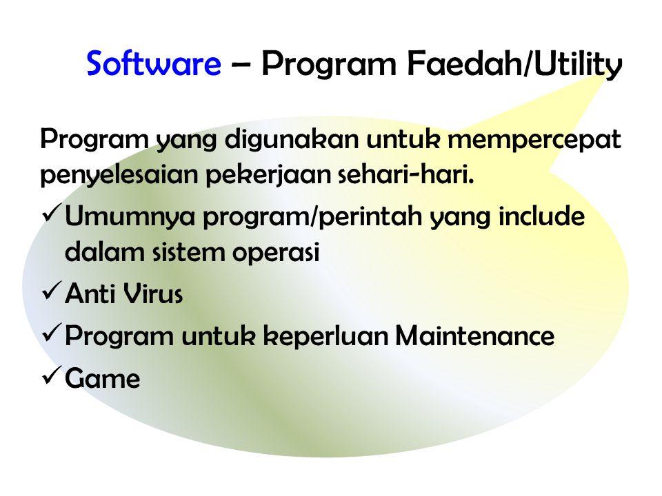 Software – Program Faedah/Utility