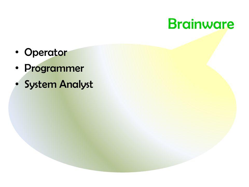 Brainware Operator Programmer System Analyst