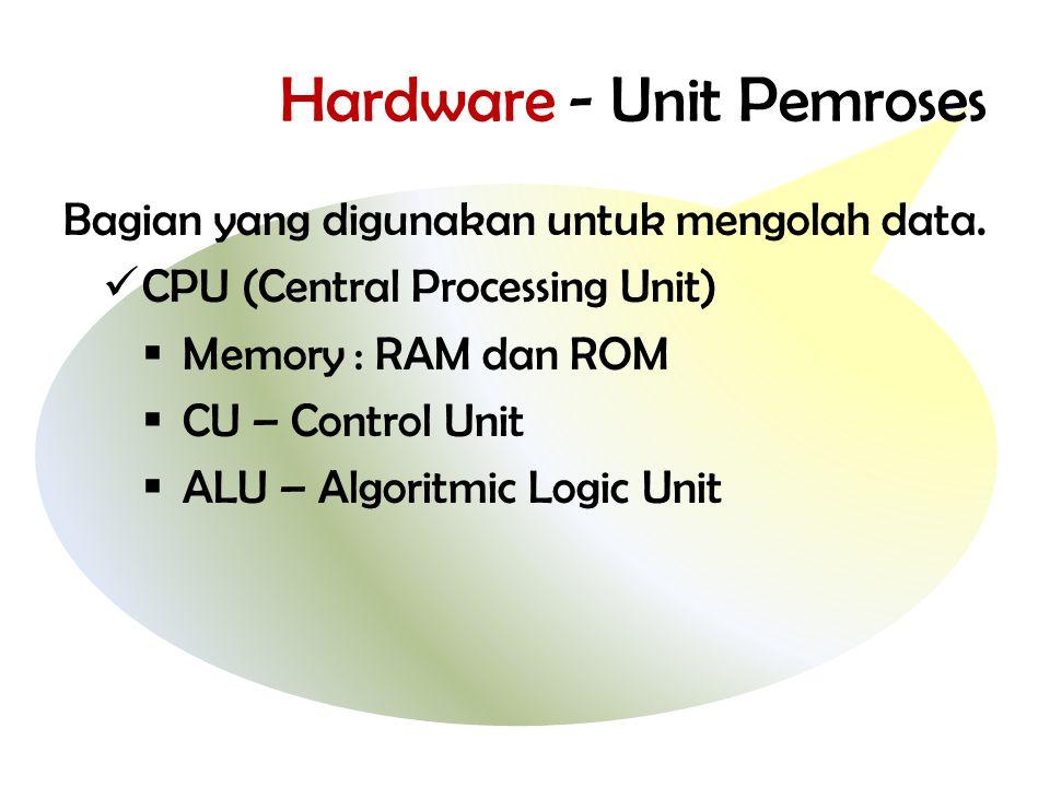 Hardware - Unit Pemroses