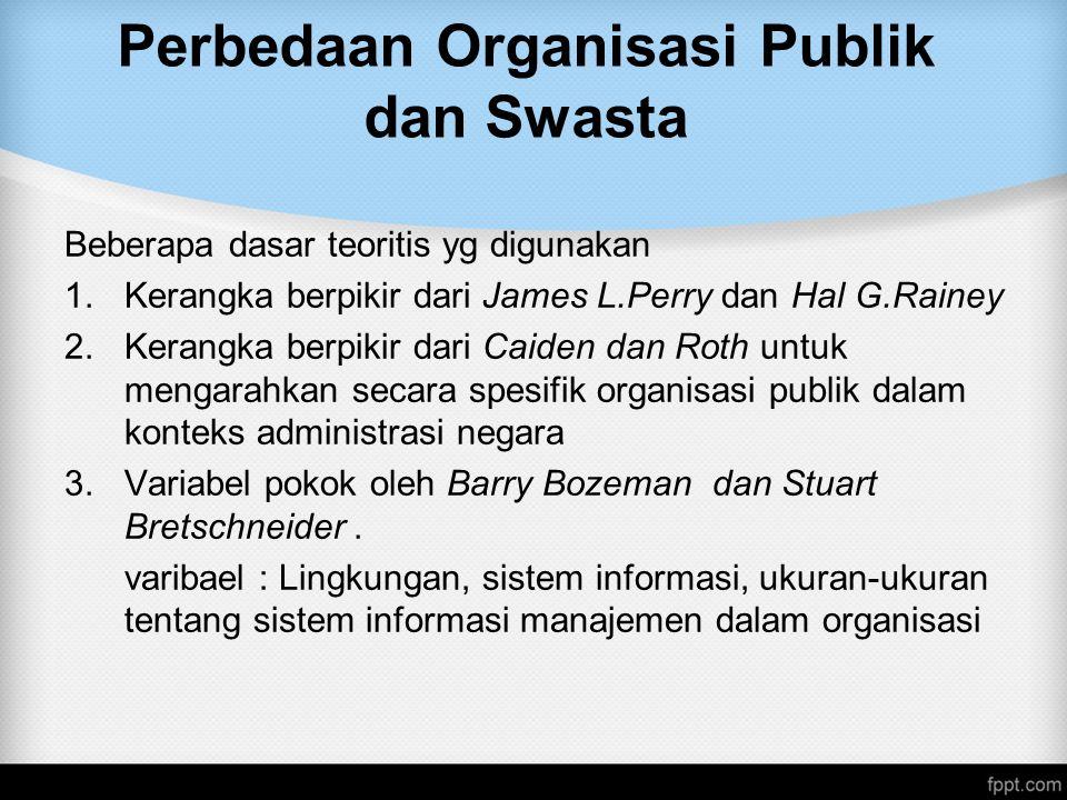 Perbedaan Organisasi Publik dan Swasta