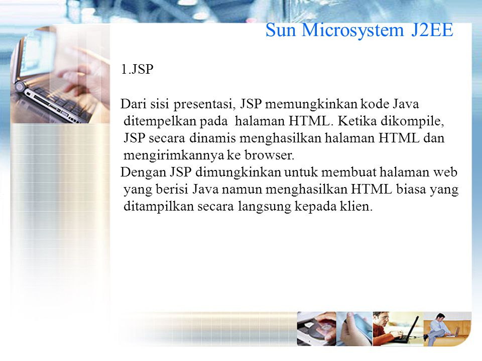 Sun Microsystem J2EE JSP