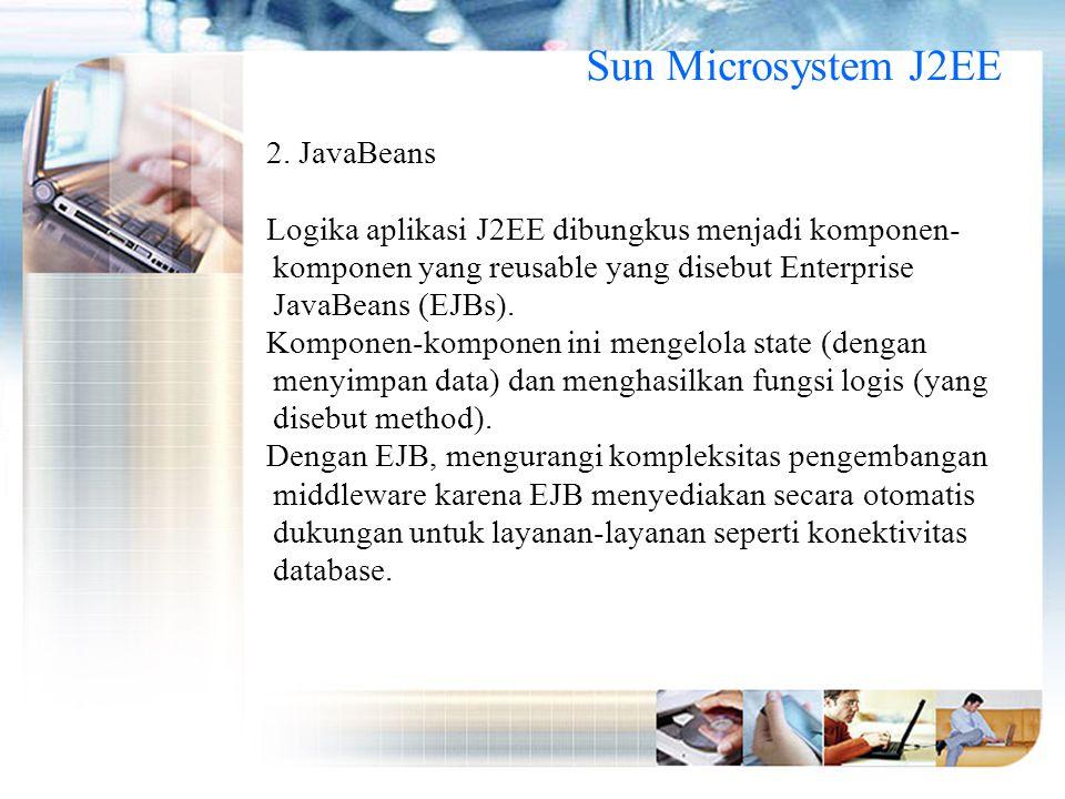 Sun Microsystem J2EE 2. JavaBeans