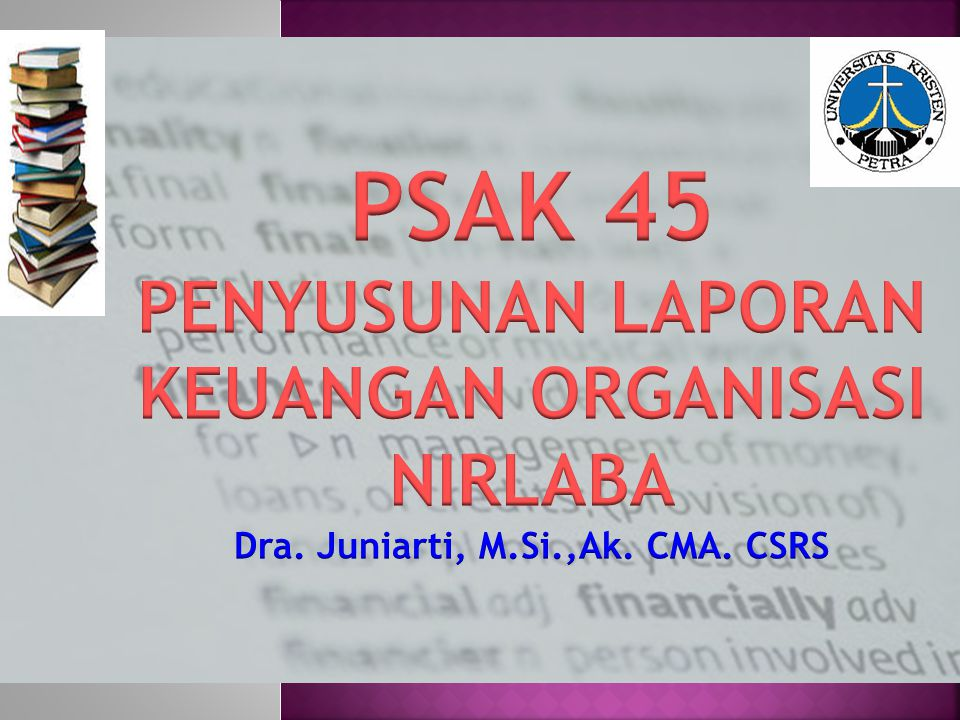 PSAK 45 PENYUSUNAN LAPORAN KEUANGAN ORGANISASI NIRLABA