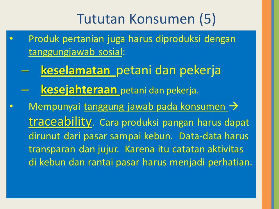 Tututan Konsumen (5) keselamatan petani dan pekerja