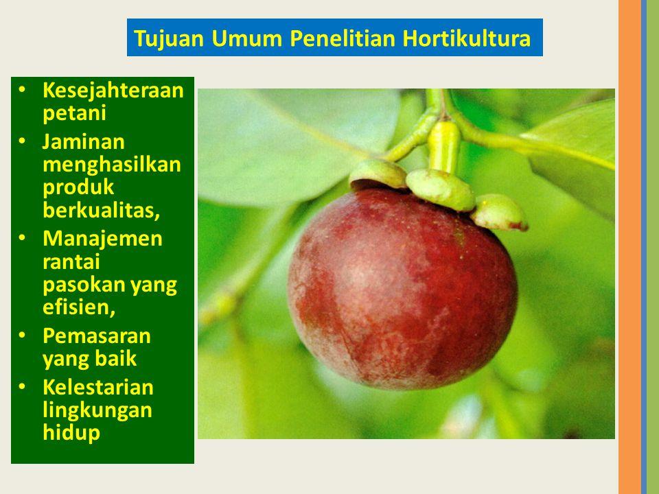 Tujuan Umum Penelitian Hortikultura