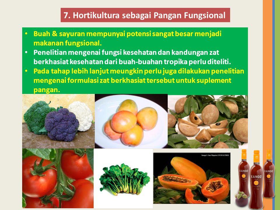 7. Hortikultura sebagai Pangan Fungsional