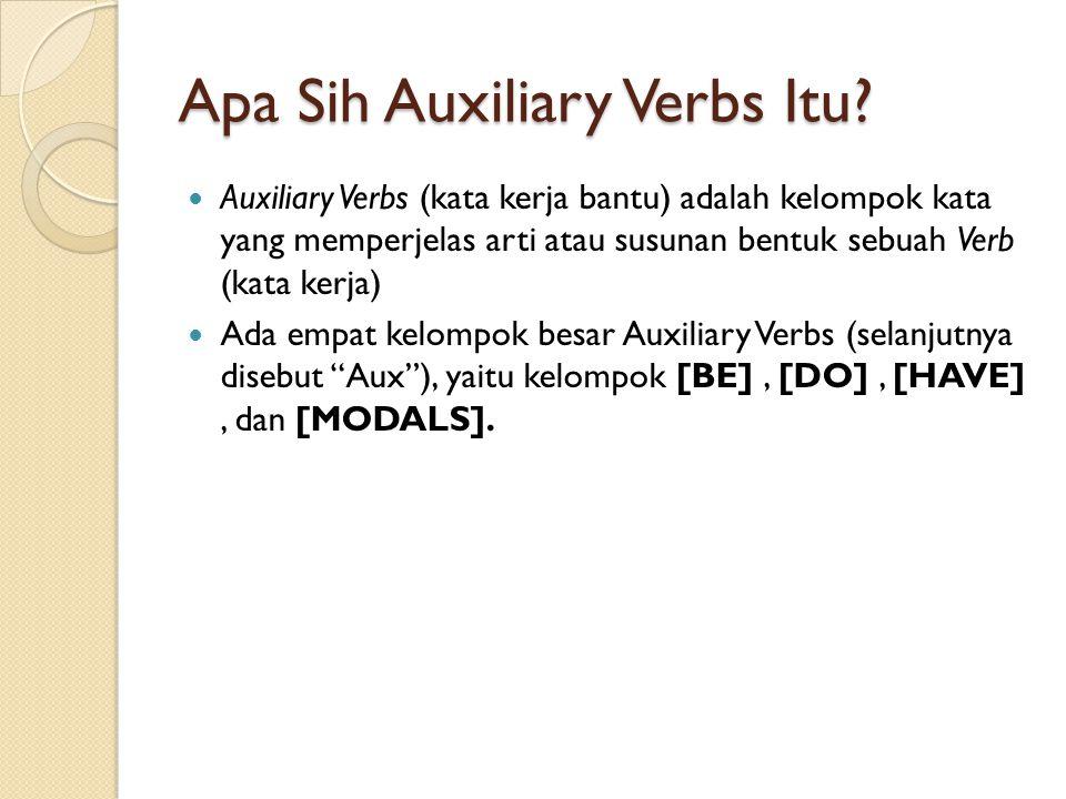 Apa Sih Auxiliary Verbs Itu