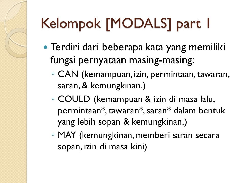 Kelompok [MODALS] part 1