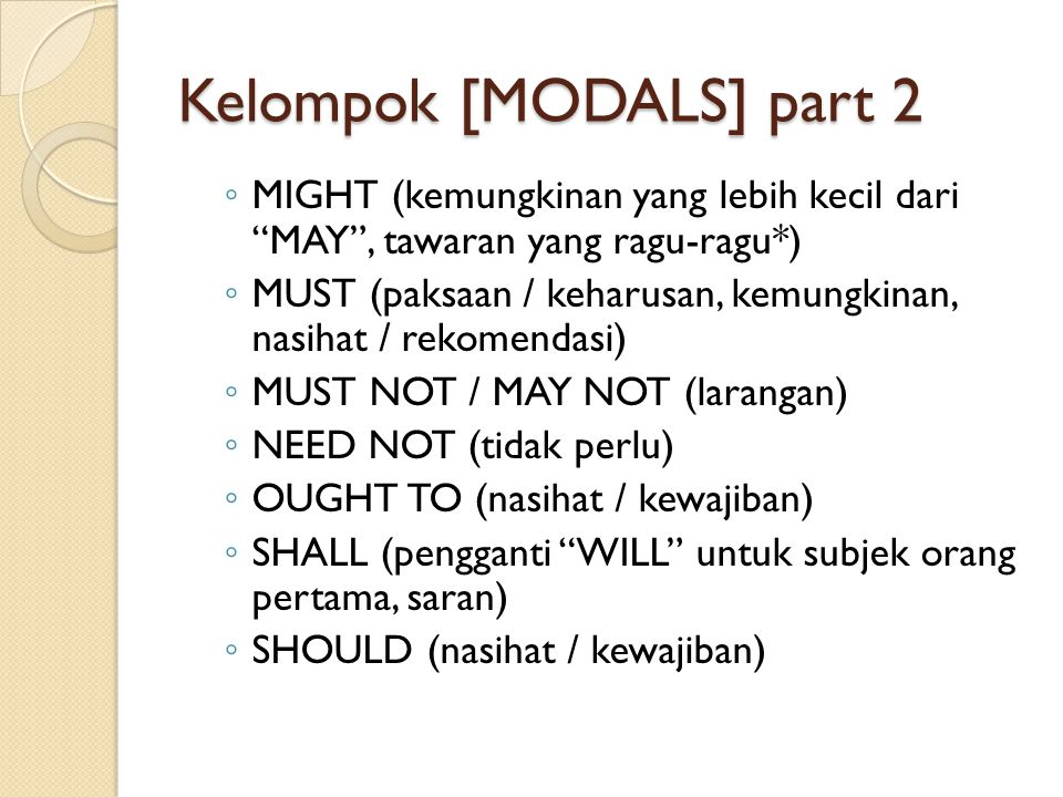 Kelompok [MODALS] part 2