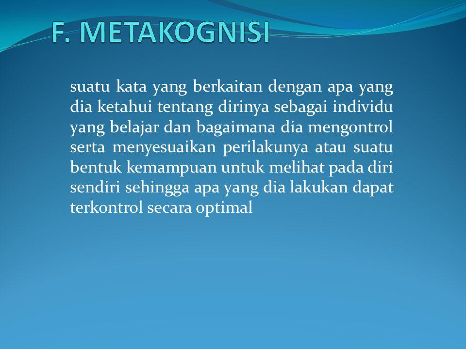 F. METAKOGNISI