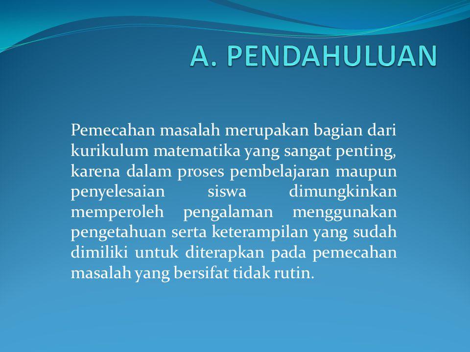 A. PENDAHULUAN