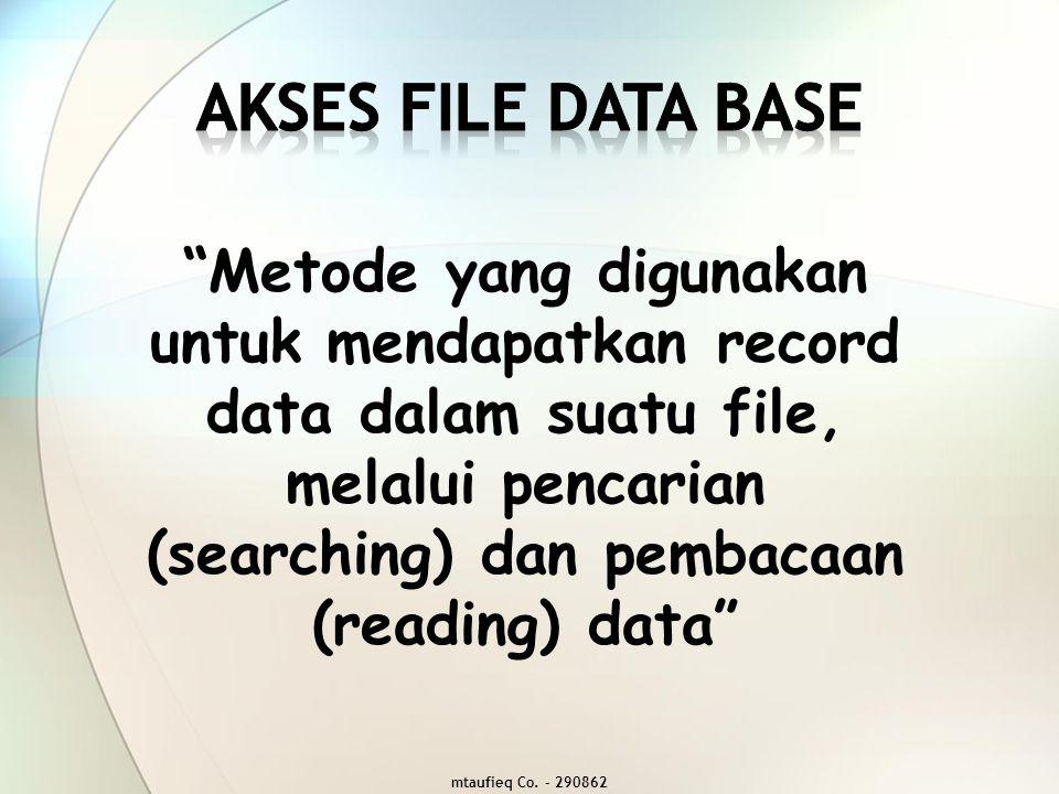 Akses file data base