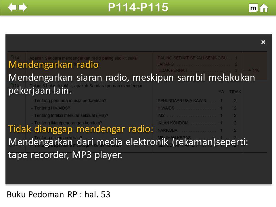 P114-P115 Mendengarkan radio