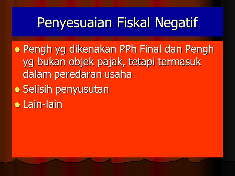 Penyesuaian Fiskal Negatif