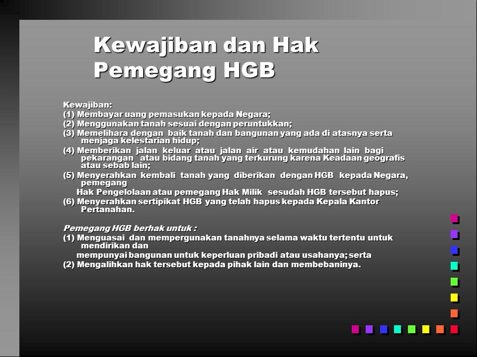Kewajiban dan Hak Pemegang HGB